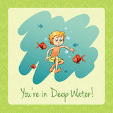 You're in deep water. Illustration Stock Photo