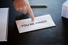 You're fired Royalty Free Stock Photos