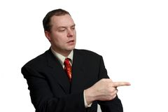 You're Fired. A business man pointing stock images