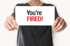 You're fired card Stock Images