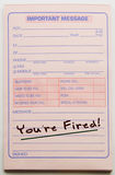 You're Fired Message Pad Royalty Free Stock Photography