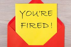 You`re Fired! stock images