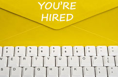 You're hired message Royalty Free Stock Photography