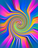 You're Hypnotized. A cartoon whirl that looks like it is in motion stock illustration