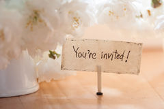 You're Invited Stock Photo