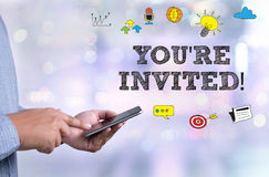 YOU'RE INVITED! Stock Images