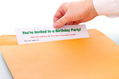 You're invited to a Birthday Party ! Royalty Free Stock Images