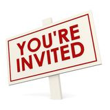 You re invited white banner Royalty Free Stock Photos