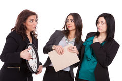 You`re late ladies. Business concept Royalty Free Stock Image