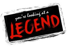 You`re looking at a legend. Handwritten modern brush calligraphy for cards, t-shirt, prints Stock Photos