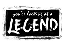 You`re looking at a legend. Handwritten modern brush calligraphy for cards, t-shirt, prints Stock Photo