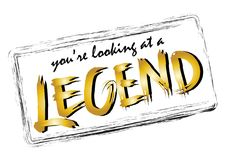You`re looking at a legend. Handwritten modern brush calligraphy for cards, t-shirt, prints Royalty Free Stock Images