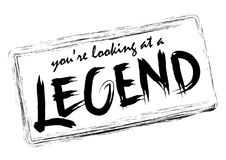 You`re looking at a legend. Handwritten modern brush calligraphy for cards, t-shirt, prints Royalty Free Stock Photo