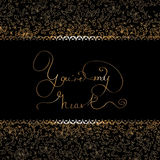 You re my heart- original hand lettering Royalty Free Stock Photos