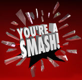 You're a Smash Hit Popular Big Success Feedback Praise Royalty Free Stock Image