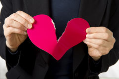 Youre tearing my heart up! Royalty Free Stock Photography