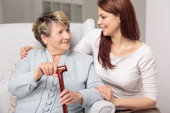 You're very important to me, grandma... Stock Images