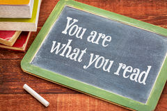 You and reading -phrase on blackboard Royalty Free Stock Photos