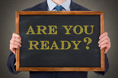 Are You Ready on Blackboard Stock Photo