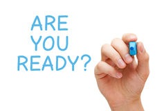 Are You Ready Blue Marker Stock Images