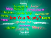 Are You Ready Brainstorm Displays Prepared For Business Royalty Free Stock Photo