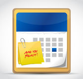 Are you ready calendar illustration design Stock Photo