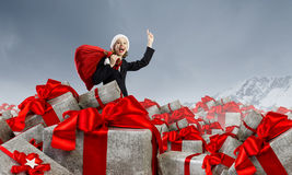 Are you ready for Christmas . Mixed media Royalty Free Stock Images