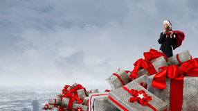 Are you ready for Christmas . Mixed media Stock Photos