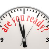 Are you ready clock Royalty Free Stock Images
