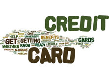 Are You Ready For A Credit Card Word Cloud Concept Royalty Free Stock Photography