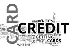 Are You Ready For A Credit Cardword Cloud Royalty Free Stock Photo