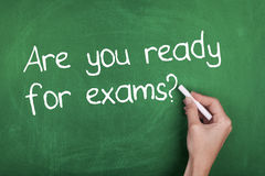 Are You Ready For Exams / Preparation Royalty Free Stock Photo