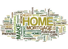 Are You Ready For A Home Word Cloud Concept Royalty Free Stock Images