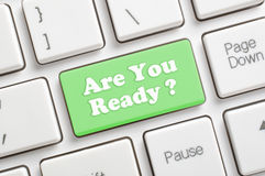 Are you ready key on keyboard Royalty Free Stock Photos