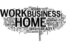 Are You Ready And Minded To Work At Home Word Cloud Concept Royalty Free Stock Image
