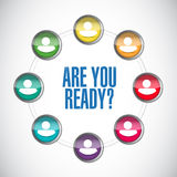 are you ready people message illustration Stock Photo