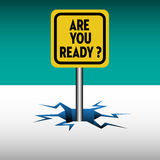 Are you ready plate Royalty Free Stock Images
