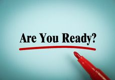 Are You Ready Royalty Free Stock Images
