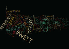 Are You Ready To Invest Word Cloud Concept Royalty Free Stock Image