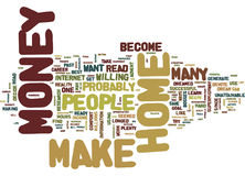 Are You Ready To Make Money From Home Word Cloud Concept Royalty Free Stock Image