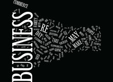 Are You Ready To Own Your Own E Commerce Business Word Cloud Concept Stock Photography