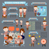 Are you ready to work the first day. To work the first day Business Infographic Stock Images