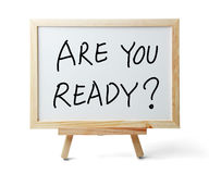 Are You Ready Stock Images