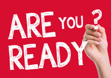 Are You Ready written on the wipe board Royalty Free Stock Photography