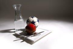 Are you real fan of soccer ?. Luxury breakfast for soccer fan Stock Photo