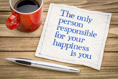 You are responsible for your happiness Stock Photography