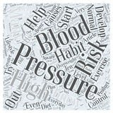Are You at Risk for High Blood Pressure word cloud concept vector background Royalty Free Stock Image
