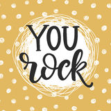 You Rock hand drawn lettering Stock Images