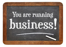 You are running business Royalty Free Stock Images