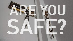 Are You Safe?  with broken lock.